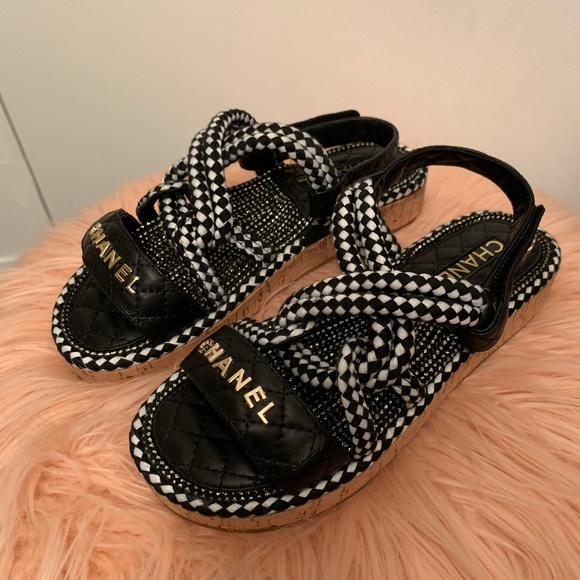 Chanel Rope Sandals Espadrilles 85